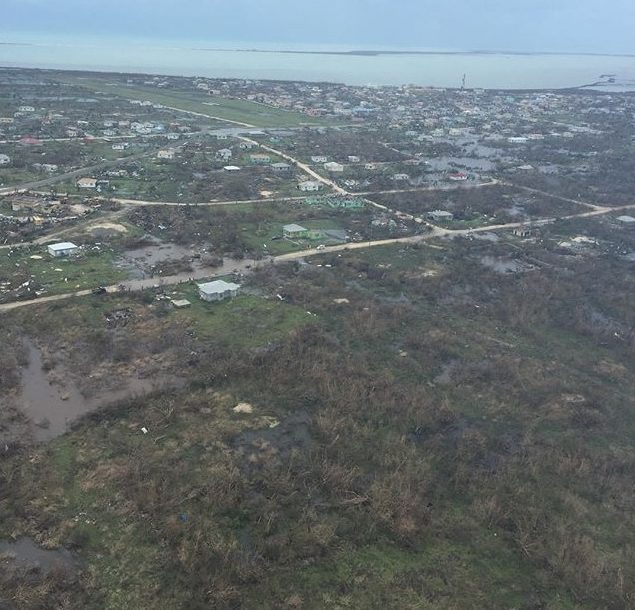 Barbuda damage following Irma. Photo Credit: Lucas Adkins